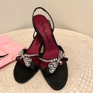Nina Black Luster heels